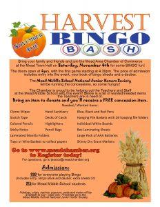 2017 Harvest Bingo Bash flyer